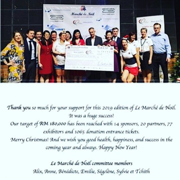 Amazing team of Le Marche de Noël, amazing organization